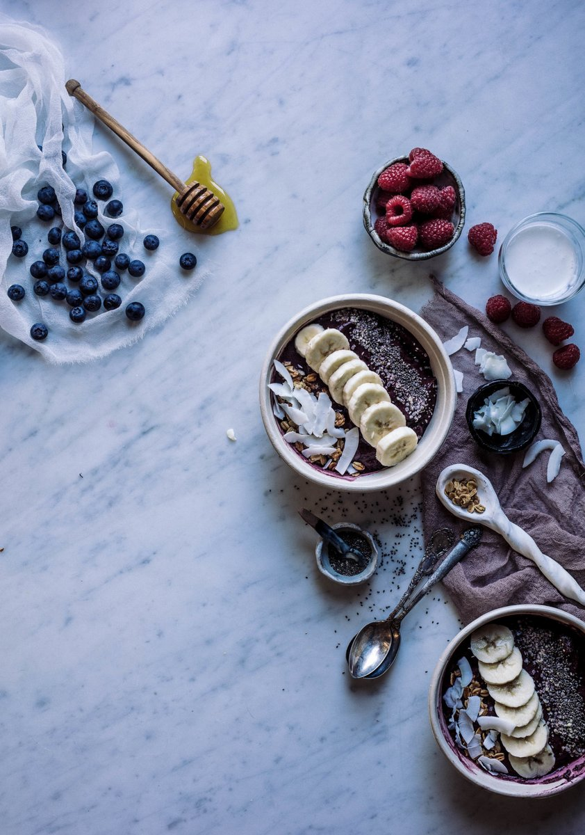 food styling acai bowls