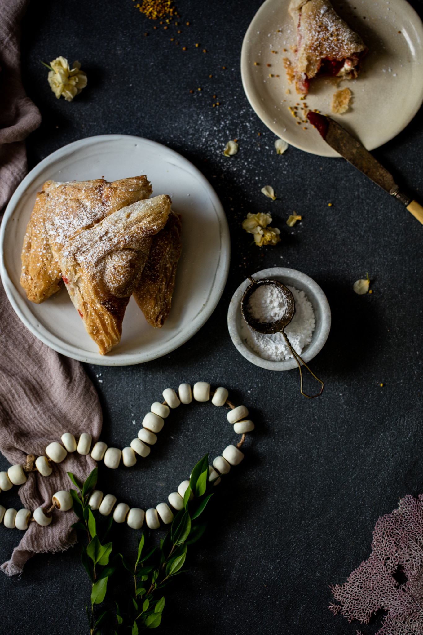 Food styling guava pastries